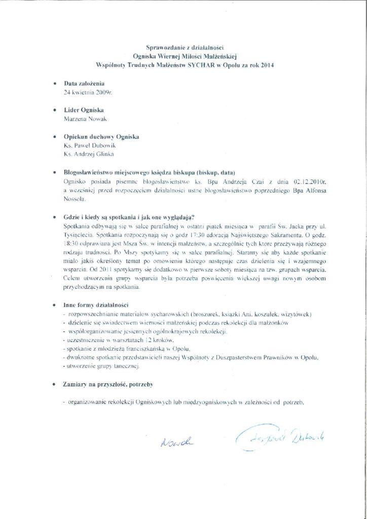 Sprawozdanie Sychar opole 2014-page-001